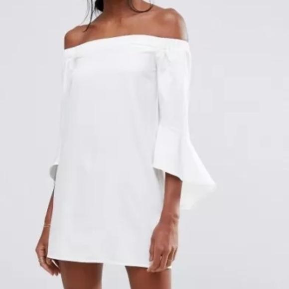 45355302cb0b ASOS Dresses   Skirts - Missguided Ruffle Sleeve Bardot Mini Shift Dress!